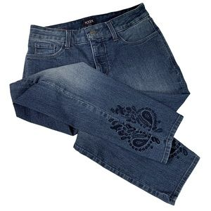 NYDJ (C) Alina Ankle Lift & Tuck Tech Embroidered Jeans -Sz 6P